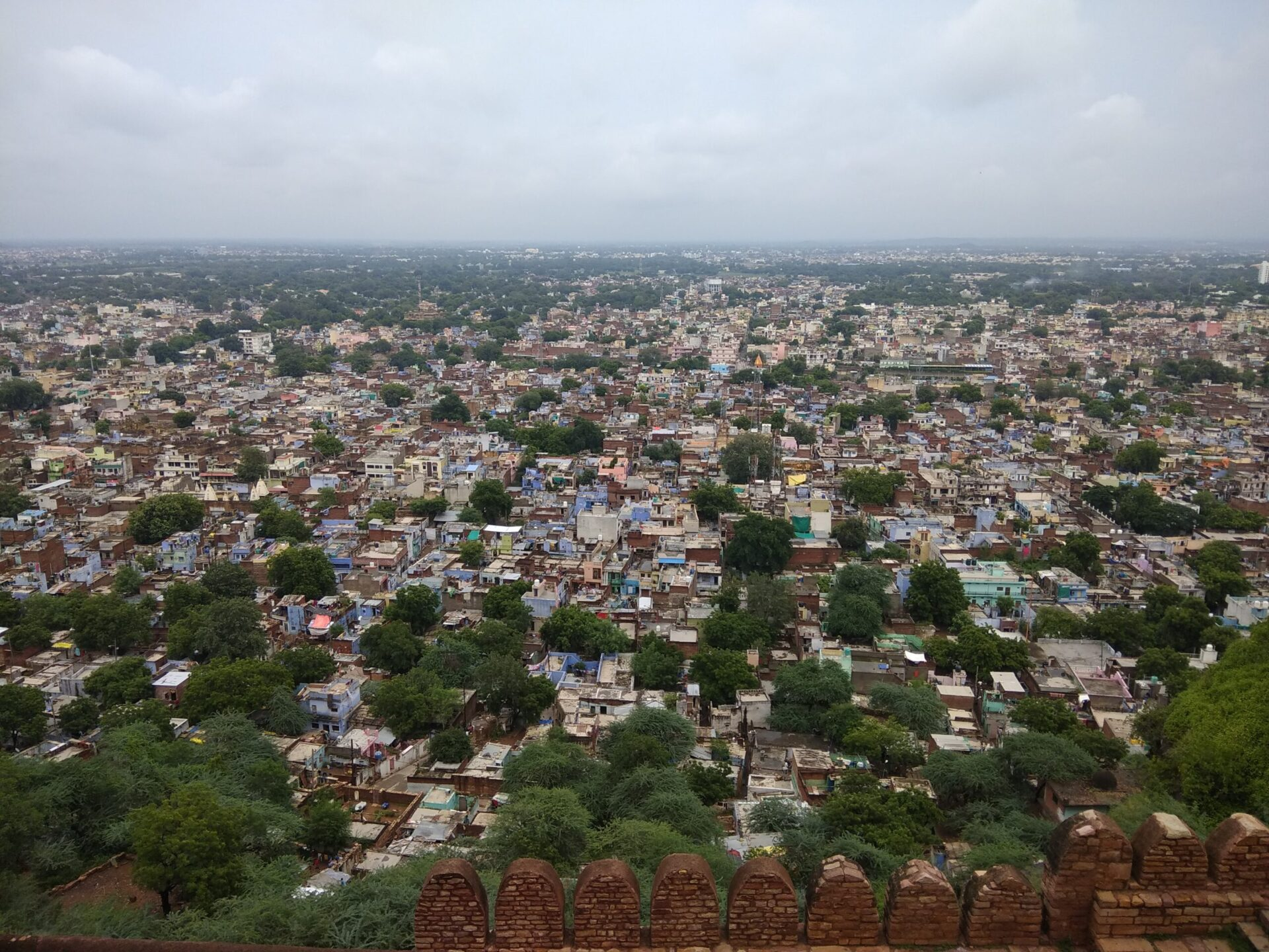 Gwalior City View From the Top of the Gwalior Fort