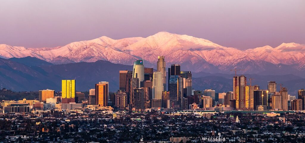 Los Angeles with Mount Lukens