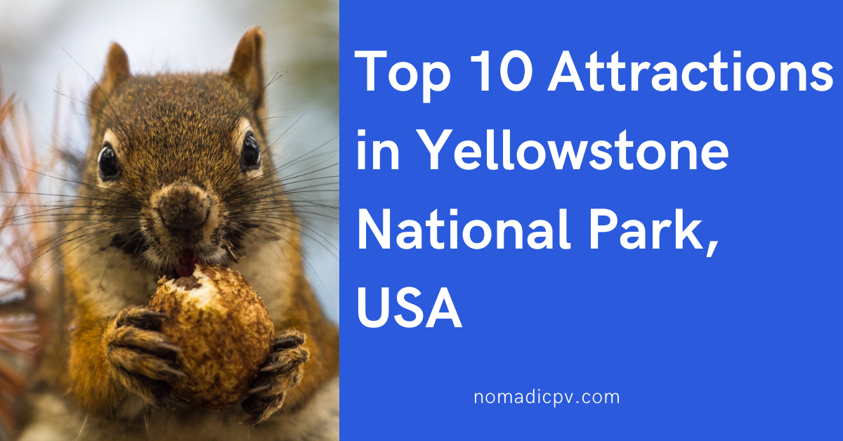 Top 10 Attractions in Yellowstone National Park